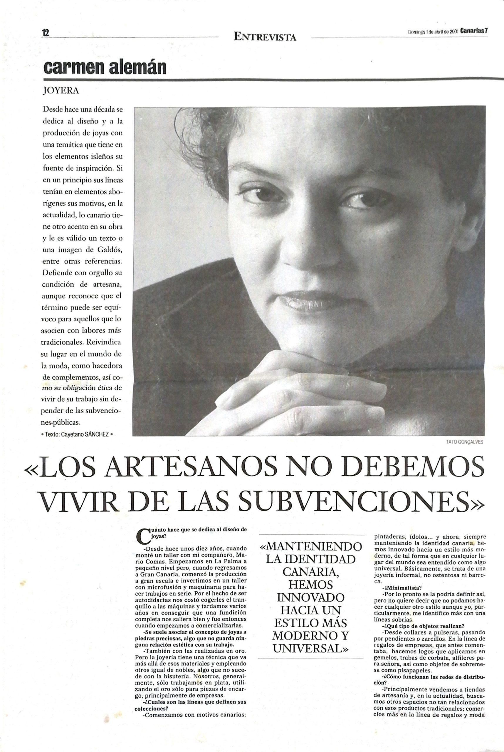 Entrevista a Carmen C7